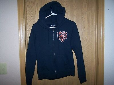NIKE CHICAGO BEARS Woman's Blue Full Zip Jacket Team Apparel  for cheap