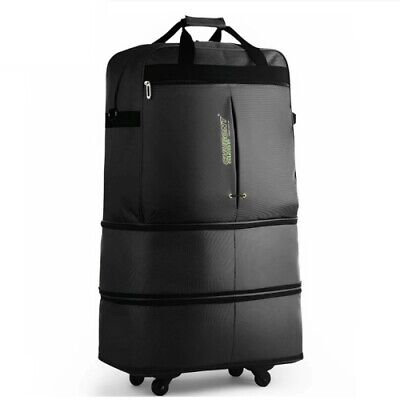 3 Sizes Adjustable Retractable Foldable Suitcase Spinner Travel luggage Bag 91L