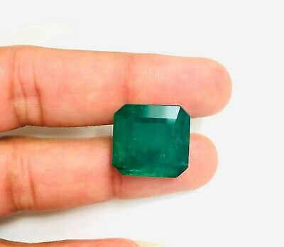 23.08 Ct Natural Emerald Zambia Cushion Cut Lovely Green Color