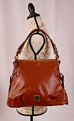 caa6b60a1c51 Dooney   Bourke Smooth Leather Shoulder Bag Teagan NWOT MWXFD1209 Brown