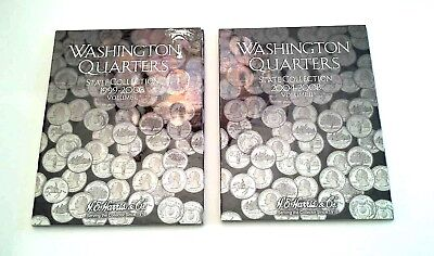 HE Harris Coin Folder Washington STATE Quarters 1999-2003 Volumes 1 and 2
