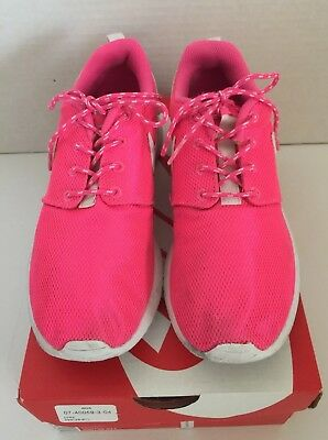 check out 87b92 ea03b Nike Roshe One Pink Blast White Sneakers Athletic Shoes 599729 611 SZ 4.5Y