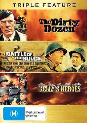 THE DIRTY DOZEN / BATTLE OF THE BULGE / KELLY'S HEROES (3 DVD) War Collection **