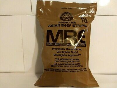 Military Mre New Sealed Indivual Mre Meals Ready To Eat. Asian Beef Strips.