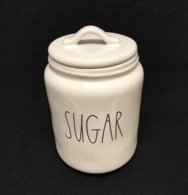 efb6c9765b3 RAE DUNN BY Magenta SUGAR Canister Large Letter Artisan New ...
