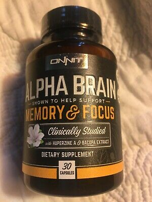 Onnit Labs Alpha Brain Memory Focus 30 Caps 3 Business Day