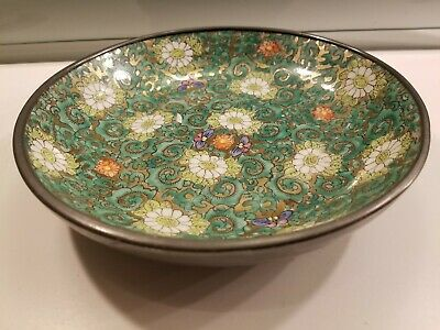 Japanese imari painted gold bowl plate lead lined & a Chinese octagonal tazza