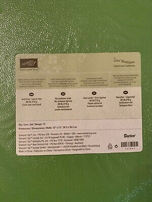 12x12 Pear Pizzazz Exclusive Card Stock *Retired* Stampin/' Up
