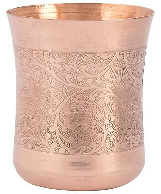 1 Pcs 100% Pure Copper Indian Handmade Glass Drinking Waters5