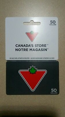 Canadian Tire Gift Card 50 $ Value