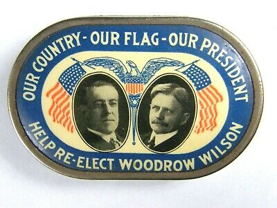 Woodrow Wilson Presidential Campaign Jugate Democratic Donation Bank 2 Sided