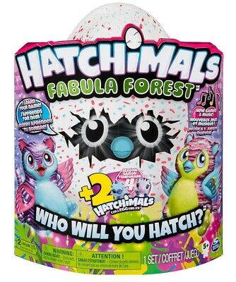 Hatchimals Fabula Forest with 2 BONUS collEGGtibles Pink/Blue