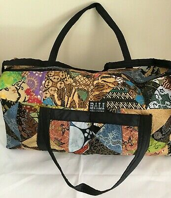 BALI BATIK PATCHWORK HANDMADE DUFFLE/OVERNIGHT/ Luggage BAG (03)