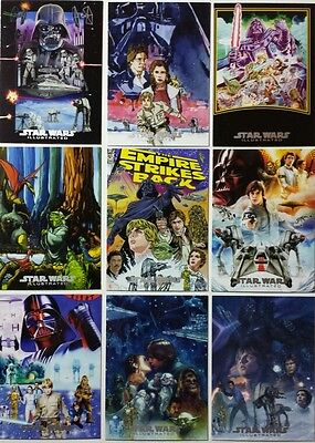 EMPIRE STRIKES BACK ILLUSTRATED Trading Card Subset ONE SHEET REIMAGINED ( 10 )