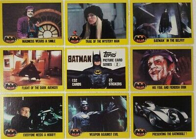 1989 BATMAN The Movie TRADING CARD SET of 132 SERIES 2 # 133-264 topps