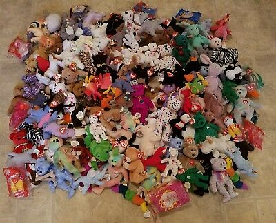 Lot 154 Rare Retired With Errors Ty Beanie Babies Collection's