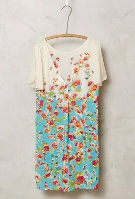 00cff84f98155 Women s Maeve by Anthropologie Ludovica Silk Floral Multicolor Small Tunic  Top