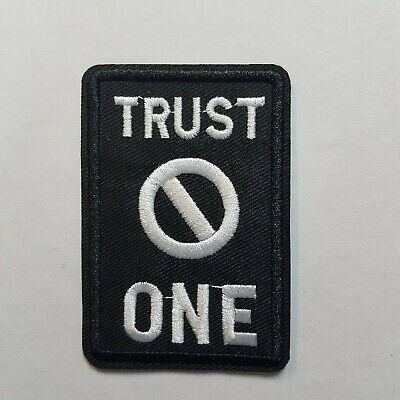 X files Trust No One Patch 3  inches tall