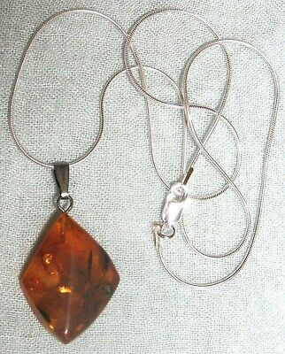 VINTAGE RUSSIAN GENUINE BALTIC AMBER PENDANT for NECKLACE  #3