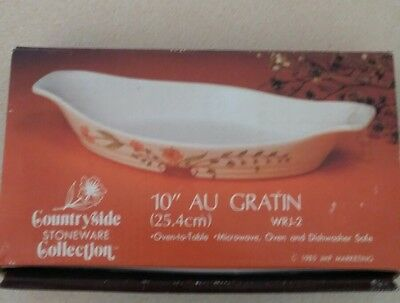 "Countryside Stoneware Collection 10"" AU GRATIN (25.4cm)   WRJ-2   in box"