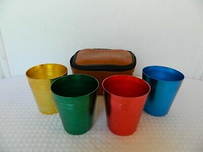 Vintage Anodised Cups & Case