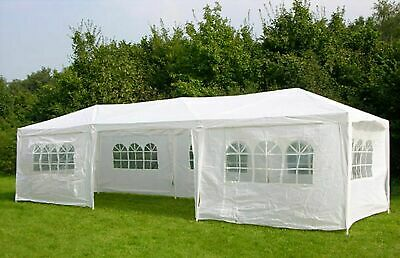 3m x 9m White Waterproof Outdoor Garden Gazebo Party Tent Marquee Canopy New