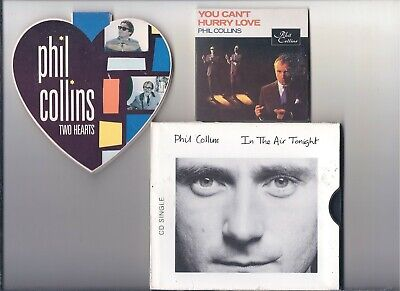 PHIL COLLINS CD SINGLES LOT Two Hearts You Can't Hurry Love  In The Air Tonight