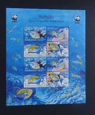 Barbados 2006 Endangered Triggerfish fish SG1290/3 sheetlet MNH UM unmounted