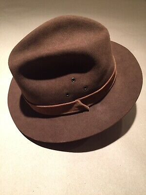 f08db3056d42de Vintage Christys London Fur Felt Outdoor Hat 7 Worth & Ltd Fedora brown