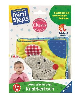 ministeps Mein allererstes Knabberbuch | Baby Stoffbuch | Babybuch ab 3 Monate