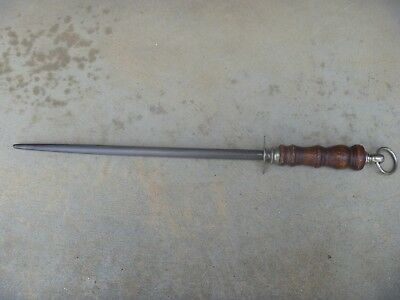 Antique F. Dick Germany Us - Zone Butchers Knife  Sharpening Steel