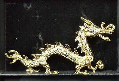 22ct Gold Plated Dragon figurine