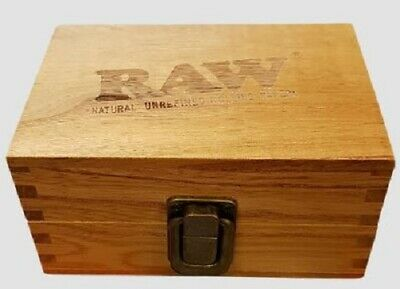 Raw Wooden Box Compartment Fancy  Cone Tobacco Rolling Kit