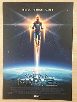 Exclusive Captain Marvel Poster A4 Odeon, Marvel Studios