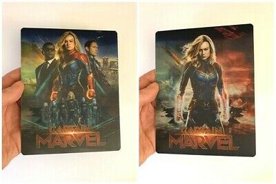 Captain Marvel Lenticular Magnet cover Flip effect for Steelbook