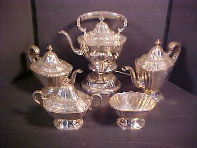 5-Piece Sterling Tea Set (w/ Waste Bowl) Frank Whiting 8303 - circa 1890's