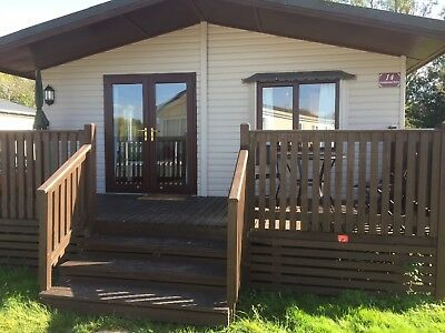 Lodge - on Lakeside Holiday Park in Chichester, Traditional Wooden Lodge