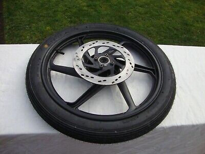 Motorcycle Front Wheel Rim with Tyre and Brake Disc.
