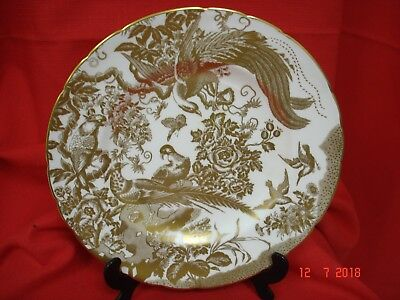 "Royal Crown -  Derby Gold Aves A 1235 -  Dinner Plate 10.1/2""- Discontinued"