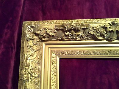 RARE Gigantic  ORNATE ANTIQUE Church PICTURE Frame  4 FT X 3 FT Gold Gesso 35lbs