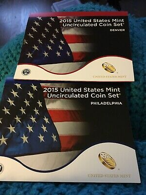 2015 United States Mint Uncirculated Coin Set P&D