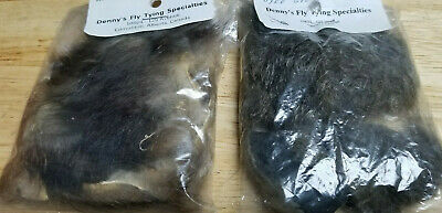 Australian Opossum pieces, dyed grey and natural