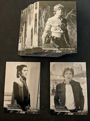 2019 Topps Star Wars ESB Black & White Iconic Character Pick From List IC-1 IC-2