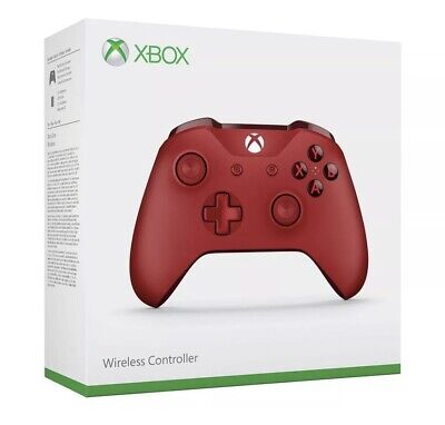 Microsoft Xbox One Wireless Controller Red With 3.5mm Stereo Headset Jack