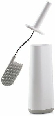 Joseph Joseph Flex Toilet Brush Holder Grey White stylish hygienic clean bath