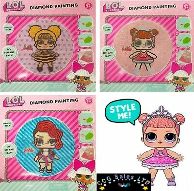 Official LOL L.O.L Doll Surprise Diamond Painting Art Craft Playset