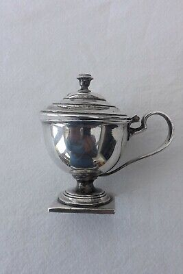 VINTAGE SILVER PLATED MUSTARD POT 8.5cm by 8cm