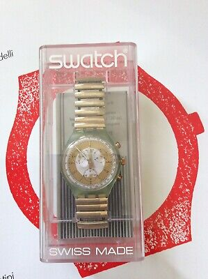 OROLOGIO SWATCH CHRONO GOLDEN GLOBE SCG100/1 Nuovo New