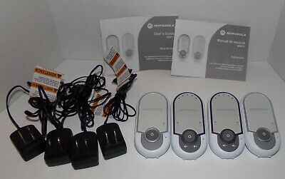 Motorola Digital Audio Baby Monitor MBP11 - Works Great 2 Sets Total VGC