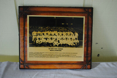 1927 New York Yankees World Series Champions laminated picture plaque